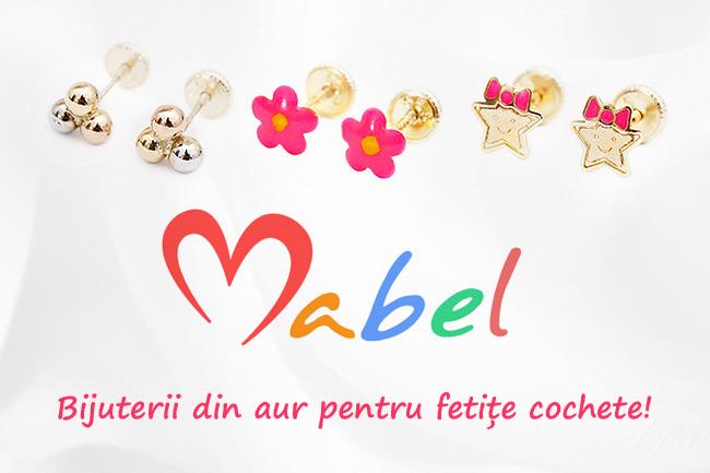 Mabel – cercei din aur pentru fetite cochete