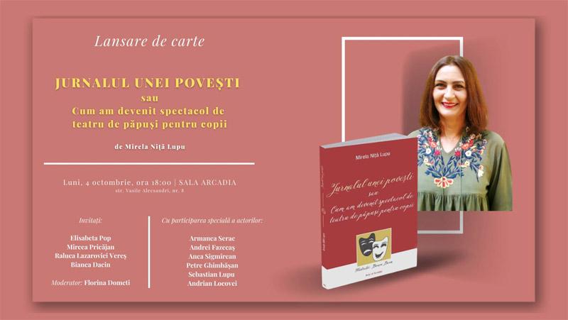 Lansare de carte: Jurnalul unei povești, de Mirela Niță Lupu